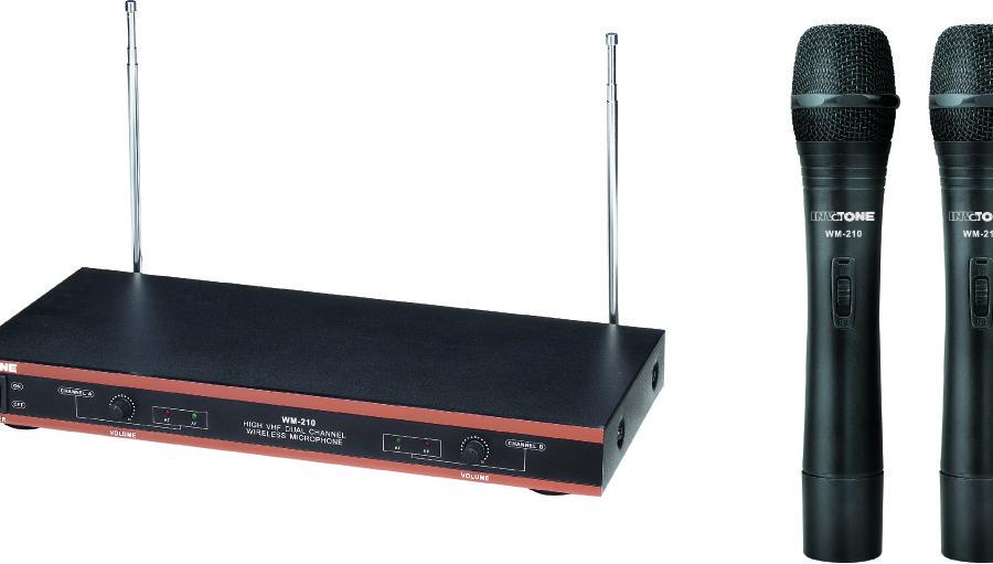 INVOTONE WM210 - Радиосистема VHF 174-216мГц. двухантен. с двумя руч.микрофонами