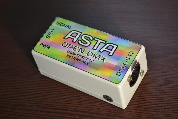USB DMX контроллер ASTA open